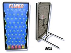 Who wants to play the Plinko game? Come on down and test your skills with this blue Plinko game. Just let the disk drop and see where it will end up. Land multiple disks in the same numbered row to win. Easy to operate, maintain, and attend. Call to rent! Carnival Game Rentals, School Carnival Games, Diy Carnival, Spring Carnival, Carnival Themed Party, Spy Party, All Black Halloween Costume, Lifeguard Halloween Costume