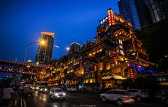 Hongyadong, Chongqing, China Chongqing China, Times Square, Travel, Viajes, Destinations, Traveling, Trips, Tourism