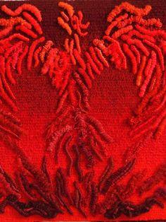 Phœnix détail 50 x 50 cm Tapisserie de haute lice
