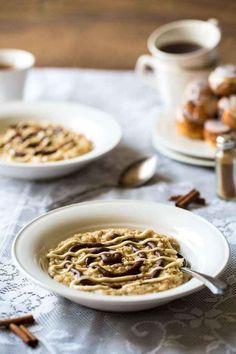 8. Healthy Cinnamon Roll Protein Oatmeal