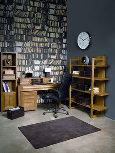 Bookshelf wallpaper...read much?