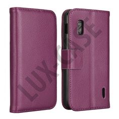 FlipStand Google Nexus 4 Leather Case (Lila)