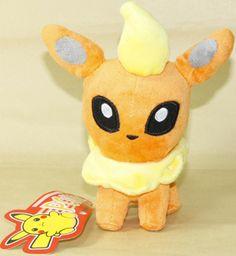 "Want all the itty bitty plushies ^_^    Flareon 6 5"" 17cm New Pokemon Plush Doll Toy Cute | eBay"