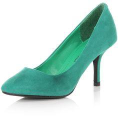 Green pointed court shoes found on Polyvore