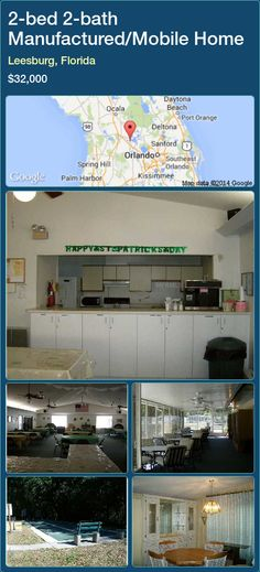 2-bed 2-bath Manufactured/Mobile Home in Leesburg, Florida ►$32,000 #PropertyForSaleFlorida http://florida-magic.com/properties/7023-manufactured-mobile-home-for-sale-in-leesburg-florida-with-2-bedroom-2-bathroom