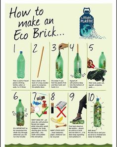 We recently started making an eco brick and wow one bottle can take a LOT of single use plastic! Great way of recycling if you cant avoid Brick Projects, Reduce Reuse Recycle, Upcycle, Plastic Waste, Plastic Recycling, Recycled Plastic Bottles, Recycling Ideas, Soft Plastic, Sustainable Living