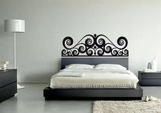 SINUOUS HEADBOARD - Wall Decal - Really high quality materials and detailed design - Made in Italy