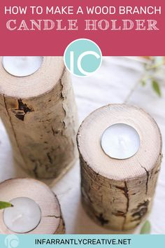 I've been completely consumed with all things fall! I'm a big fan of fall projects, decorating, and baking, so it's safe to say that I love this season! Today, I thought I'd share one of my latest fall projects, a DIY rustic tea light holder made from a fallen aspen log. Diy House Projects, Fall Projects, Diy Wood Projects, Easy Diy Crafts, Fall Crafts, Thanksgiving Diy, Tea Light Holder, Aspen, Tea Lights
