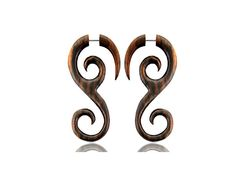 A personal favorite from my Etsy shop https://www.etsy.com/listing/243510549/wood-earring-spiral-fake-gauge-taper