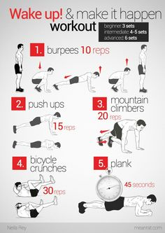 Wake up, Work out