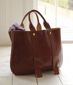 27a70e4cf94 Leather Tote Bag from notonthehighstreet.com Clare Vivier