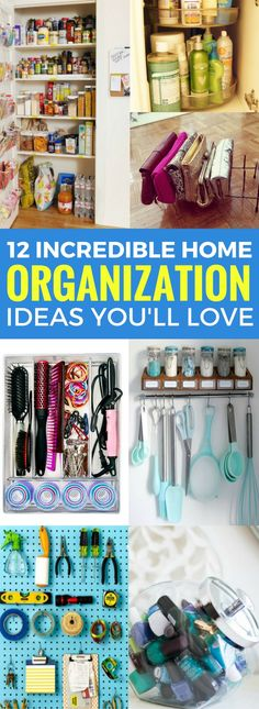 Having a hard time finding the best ways to organize your home? Then you have to check out this AMAZING organization hacks for the home. Great diy tips and hacks that actually work!