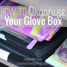 Ooh, this is good! End the clutter and randomness in your glovebox. How to Organize Your Glove Box at orgjunkie.com