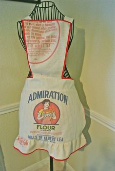 CLEAN: flour sack aprons, towels or curtains would be clever and tongue in cheek for a GF bakery