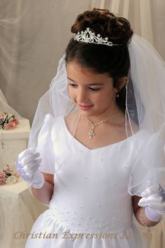 holy communion hairstyle - Google Search
