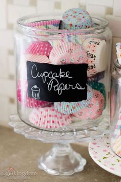 New kitchen decor themes cupcakes fun 20 Ideas Cupcakes Lindos, Breakfast Party Foods, Breakfast Ideas, Cozinha Shabby Chic, Bar A Bonbon, Large Glass Jars, Pastel Kitchen, Pretty Cupcakes, Cupcake Shops
