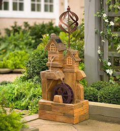 Solar Watermill Fountain with Spinner ** Check this awesome product by going to the link at the image. Note: It's an affiliate link to Amazon