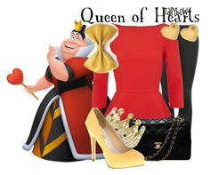"""""""Queen of Hearts"""" by tallybow ❤ liked on Polyvore featuring Topshop, Alice + Olivia, Chanel, Michael Antonio and Sydney Evan"""