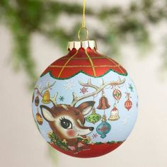 One of my favorite discoveries at WorldMarket.com: Retro-Style Glass Ball Ornaments, Set of 2