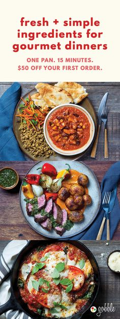 Gobble | Fresh & Simple Ingredients | 15 Minute Dinners Designed To Create Dinner | Dinner For Two | Quick and Easy Recipes | New Recipes To Try | Cook At Home | Fresh Ingredients | What To Have For Dinner | Dinner Recipes | Easy Dinner Recipes | Gourmet Meals