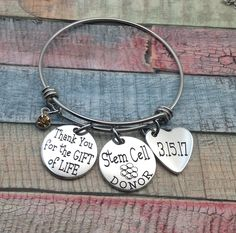 Stem Cell Donor Gift idea, Organ Donor Jewelry, Living Donor Gift, Thank you for the gift of life, Kidney donor, Liver donor, Pancreas donor