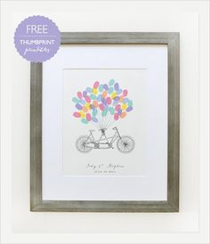Pin for Later: 31 FREE Wedding Ceremony Printables Bicycle Thumbprint Guestbook Here is another version of the thumbprint guestbook from Wedding Chicks.