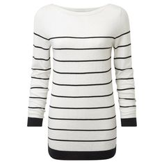 Wendy Boat Neck Stripe Knit