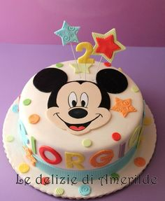 m Art Birthday Cake, Baby Boy Birthday Cake, Mickey Mouse Birthday Cake, Fiesta Mickey Mouse, Mickey Mouse 1st Birthday, Minnie Cake, Mickey Cakes, First Birthday Cakes, Minnie Mouse
