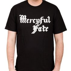 OFFICIAL ~ MERCYFUL FATE Logo (White) t-shirt
