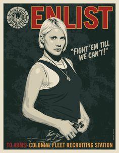 """Battlestar Galactica - """"Enlist"""" propaganda poster"""