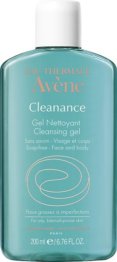 Cleanance Cleansing gel gently removes impurities from the skin. Face and body.Its benefits - Cleansing: It gently cleanses your skin with its gentle cleansing base - Mattifying: Monolaurin (patent pending) regulates the hyperproduction of sebum. - Soothing: Avène Thermal Spring Water provides soothing and anti-irritating benefits.