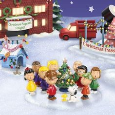 PEANUTS Charlie Brown Christmas Village Collection