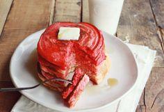 ombre ricotta pancakes