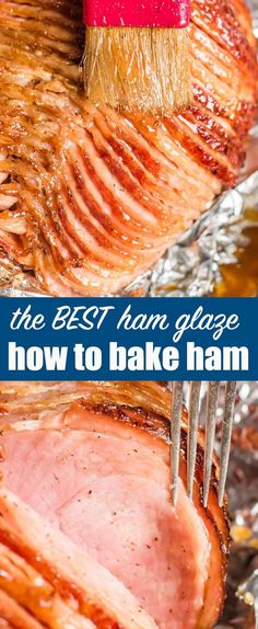 HOW to COOK HONEY GLAZED HAM - Everything you need to know about how to cook a ham for your holiday dinner. Start with a spiralized ham and make a homemade honey ham glaze for a deliciously flavorful tender & juicy ham Cooking Spiral Ham, Cooking A Ham, Cooking Games, Cooking Pumpkin, Cooking Steak, Spiral Ham Crockpot, Cooking Classes, Cooking Broccoli, Cooking Pasta