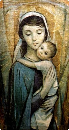 This may be one of my new favorite pictures of Blessed Mother and baby Jesus. Mary with Jesus art-piece in the St Margaret Mary Chapel of Blessed Trinity Church, Owego, NY Blessed Mother Mary, Blessed Virgin Mary, Religious Icons, Religious Art, Madona, Jesus Photo, Images Of Mary, Saint Esprit, St Margaret
