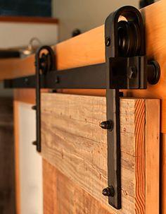 6.6 FT Black Steel Slide Sliding Barn Door Hardware Track Rail Hanger Roller | Home & Garden, Home Improvement, Building & Hardware | eBay!