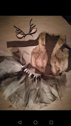 Bambi / hert kostuum carnaval zelf gemaakt