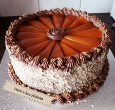 Hungarian Cake, Just Cakes, Macarons, Tiramisu, Healthy Snacks, Cake Decorating, Birthdays, Food And Drink, Meals