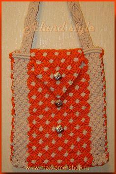 Сумка-макраме оранж