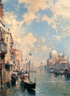 Franz Richard Unterberger(1837ー1902)「The Grand Canal, Venice(El Gran Canal, Venecia)」