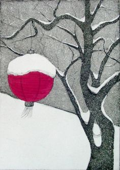 Winter (Original Intaglio Print) by VIZArt