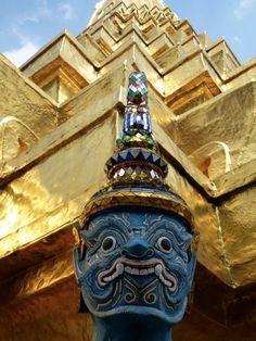 #In the Grand Palace, Bangkok. January 2012.