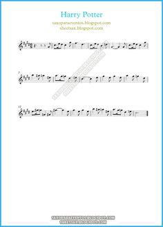 harry potter sheet music free | MUSIC SCORE OF HARRY POTTER THEME FOR SOPRANINO SAXOPHONE, ALTO SAX ...