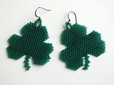 #beadwork Totally Twisted Bangles & Beads: Shamrock Earrings
