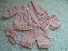 Coming home outfit? Hand knitted set for a newborn baby reborn by SusansWorkbasket, $30.00