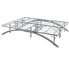 already have an air mattress heres a great arch platform bed frame to put it