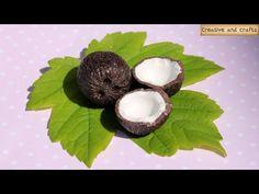 Полимерная глина - КОКОС (мастер-класс) - Polymer clay coconut tutorial - YouTube