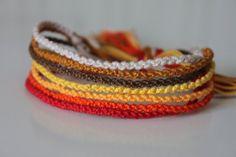 Set of 7 Fall Colored Friendship Bracelets
