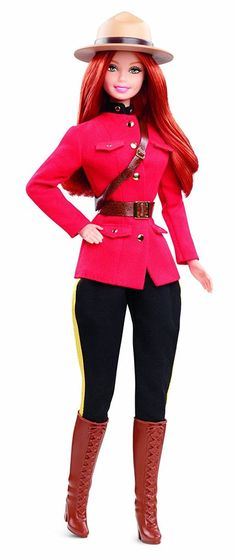 Barbie Collector Dolls of the World Canada Doll It's a well-traveled Barbie doll that has charmed hearts around the globe. The Dolls of the World collection celebrates those travels with Barbie dressed in ancestral dress of various countries.