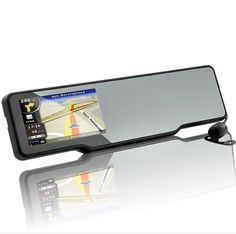 Car Bluetooth Rearview Mirror Kit - GPS, Radar Detector, Dashcam, Parking Camera #cars #gadget